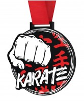 Karate Monster Black Medal