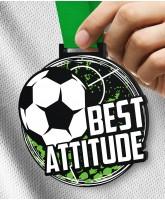 Monster 100mm Best Attitude Football Medal