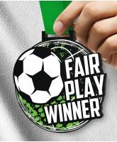 Monster 100mm Fair Play Football Medal