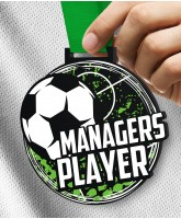 Monster 100mm Managers Player of the Year Football Medal
