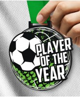 Monster 100mm Player of the Year Football Medal