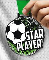 Monster 100mm Star Player Football Medal