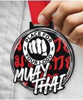 Muay Thai Massive Monster Black Logo Medal
