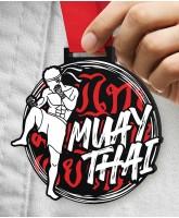 Muay Thai Massive Monster Black Medal