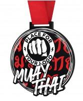 Muay Thai Monster Black Logo Medal