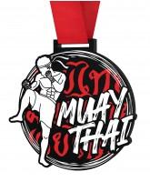 Muay Thai Monster Black Medal