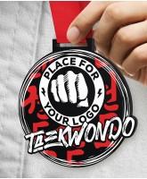 Taekwondo Massive Monster Black Logo Medal