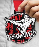 Taekwondo Massive Monster Black Medal