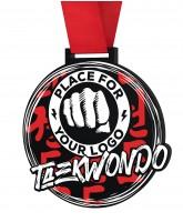 Taekwondo Monster Black Logo Medal