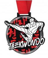 Taekwondo Monster Black Medal