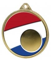 Dutch Netherlands Flag Logo Insert Gold 3D Printed Medal