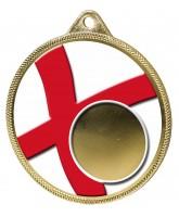 England Flag Logo Insert Gold 3D Printed Medal