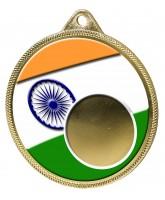India Flag Logo Insert Gold 3D Printed Medal