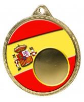Spanish Flag Logo Insert Gold 3D Printed Spain Medal