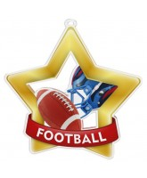 American Football Mini Star Gold Medal