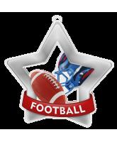 American Football Mini Star Silver Medal