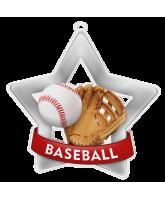 Baseball Mini Star Silver Medal