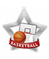 Basketball Mini Star Silver Medal