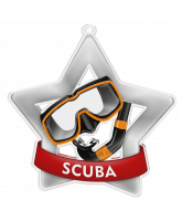 Scuba Diving Mini Star Silver Medal