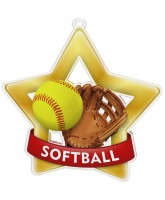 Softball Mini Star Gold Medal