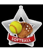 Softball Mini Star Silver Medal