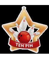 Ten Pin Bowling Mini Star Bronze Medal