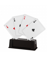 Turin Four Aces Card Trophy