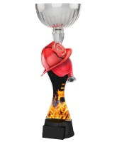 Montreal Firefighter Helmet and Hose Silver Cup Trophy