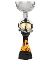 Montreal Firefighter Helmet and Mask Silver Cup Trophy