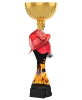 Vancouver Firefighter Helmet and Hose Gold Cup Trophy