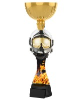 Vancouver Firefighter Helmet and Mask Gold Cup Trophy