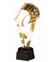 Budapest Baseball Glove and Ball Trophy