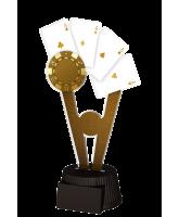 Budapest Poker Cards Trophy