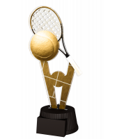 Budapest Tennis Racket and Ball Trophy