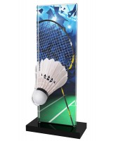 Apla Badminton Racket and Shuttlecock Trophy