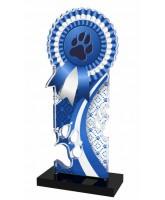 Lassie Blue Paw-print Rosette Trophy