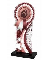 Lassie Brown Paw-print Rosette Trophy