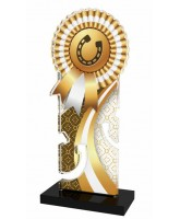 Pegasus Gold Horseshoe Rosette Trophy