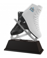 Berlin Black & White Boot Ice Skating Dance Trophy