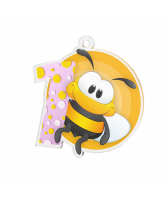 Bumble Bee Pink 1st Place Medal