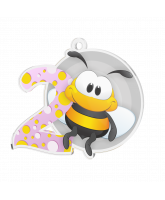 Bumble Bee Pink 2nd Place Medal