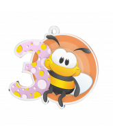 Bumble Bee Pink 3rd Place Medal