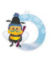 Bumble Bee Skiing Medal