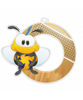 Bumble Bee Volleyball Medal