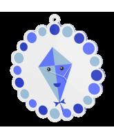 Childrens Blue Kite Medal