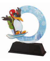 Penguin Childrens Snowboarding Trophy