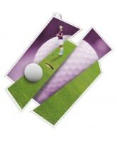 Golf Ladies Golfer Supersize Artistic Medal