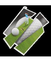 Golf Supersize Artistic Golfer Medal