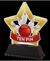 Mini Star Ten Pin Bowling Trophy