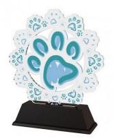 Ostrava Dog Paw Print Trophy